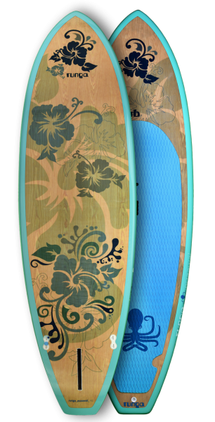 PUAAWAI SURF WOOD BLUE TRANSPARENT