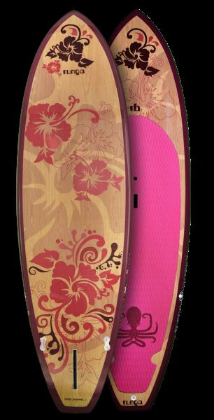 PUAAWAI SURF WOOD PINK TRANSPARENT